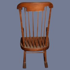 Wooden Dollhouse Chair