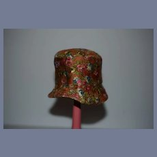 Sweet Floral and Orange Doll Hat