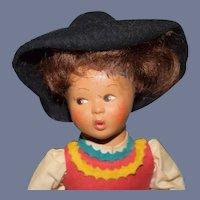 Vintage Felt Doll Character