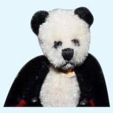 Artist Miniature Teddy Bear Panda Bear Jointed Signed Dollhouse