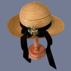 Large Straw Doll Hat