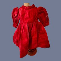 Bright Red Long Sleeve Doll Dress
