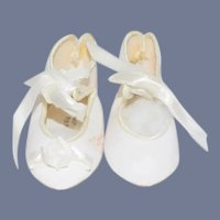 "New White ""La Sioux"" Doll Shoes"