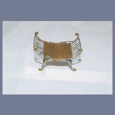 Miniature German Soft Metal Dollhouse Bedside Table