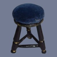 Black and Blue Dollhouse Kitchen Stool