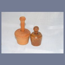 Set of Two Wood Butter Stamp Molds