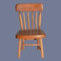 Miniature Dollhouse Kitchen Chair Signed TONCOSS STURBRIDGE