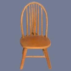 Miniature Wood Dollhouse Chair