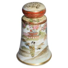 Japanese Landscape Painted Salt or Pepper Shaker