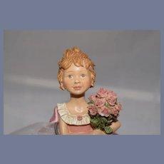 Miniature  Carved Ballerina Doll