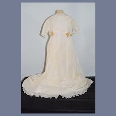 Antique Doll Christening Gown Gorgeous