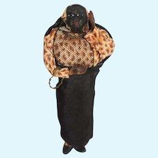 Old Black Doll Cloth Doll Folk Art