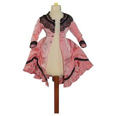 Sweet Vintage Taffeta Doll Dress Fashion Doll Petite Size
