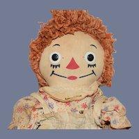 Orange Hair Raggedy Anne Cloth Doll