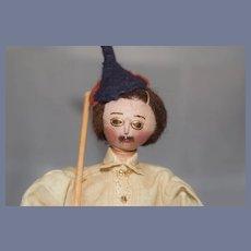 Old Cloth Doll Unusual Dollhouse Size
