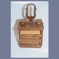 Miniature Wood Dollhouse Dresser