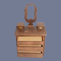 Miniature Wood Dollhouse Dresser