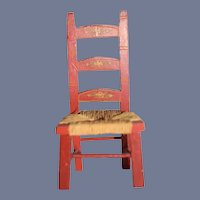 TinieToy Miniature Red Doll Chair