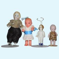 Lot of 4 Miniature Dolls