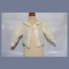 Old Petite White Doll Blouse Top
