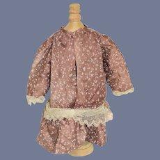 Sweet Hand Made Doll Dress w/ Drop Waist and lace Trim