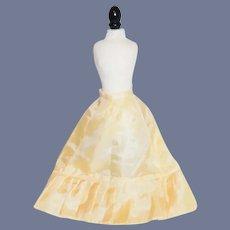 Yellow Silk Doll Skirt with Drop Waist
