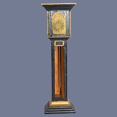 Miniature Dollhouse Black and Gold Grandfather Clock