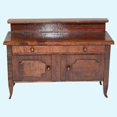 Sweet Old Wood Sideboard Chest Doll Dollhouse Miniature