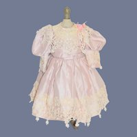 Sweet Doll Dress with Crinoline Embroidery Fancy Bow