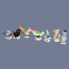 Huge Lot of Animal Pin cushions Porcelain Unusual Wonderful Vintage