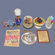 Set of Miniature Dollhouse Accessories