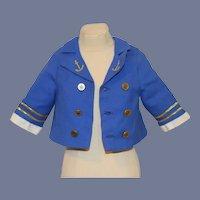 Double Buttoned Blue Sailor Jacket for Dolls