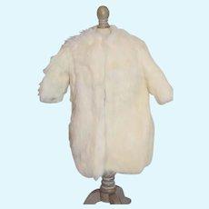 White Long Fur Doll Coat