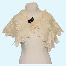 White Lace Doll Shawl