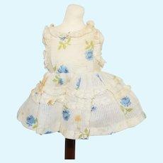 Miniature Floral Cotton Doll Dress