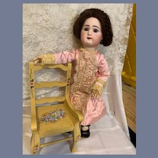 Antique French Doll Bisque BeBe Rabery & Delphieu RD W/ Two Wigs and Two Outfits Sweet Closed Mouth