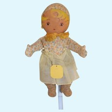 Old Georgene Novelty Cloth Doll W/ Original String Tag Baby Varden Tousey Family