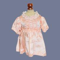 Pink Silk Doll Dress with Pleats