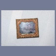 Miniature Gold Frame Dollhouse Photo of a Doll