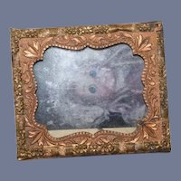 Miniature Gold Frame Dollhouse Photo of a Doll