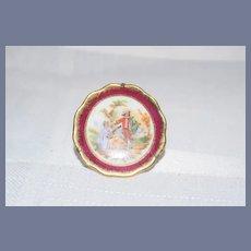 "Miniature Dollhouse Decorative Scene Plate Marked ""Limoges France"""