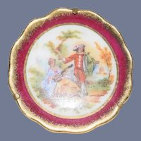 "Miniature Dollhouse Decorative Scene Plate Marked ""Limoges France"""