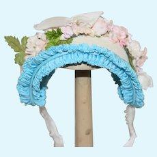 Sweet Doll Petite Artist Made Bonnet Hat French Market