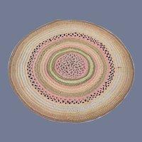 Colorful Circular Woven Dollhouse Rug