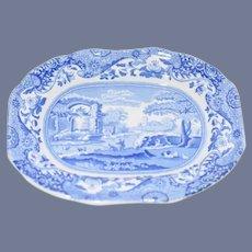 "Miniature Blue and White Decorative ""Spode"" Brand Dish"