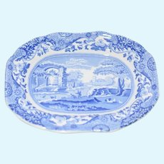 "Miniature Blue and White Decorative ""Spode"" Brand Dish"