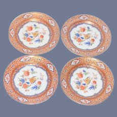 """Miniature Set of 4 Dollhouse Floral Tea Dishes Marked """"Kaiser W. Germany"""""""