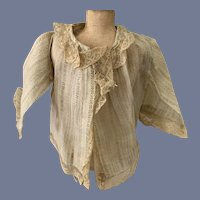 Bell Sleeve Doll Blouse with Lace Edges
