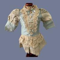 Fancy Light Blue and White Doll Dress