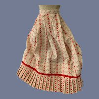 Red Heart Printed Cloth Doll Skirt